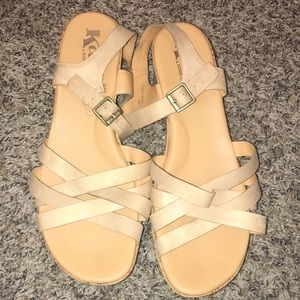 Tan Korks wedge heels